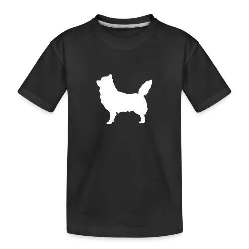 Chihuahua pitkakarva valkoinen - Teinien premium luomu-t-paita