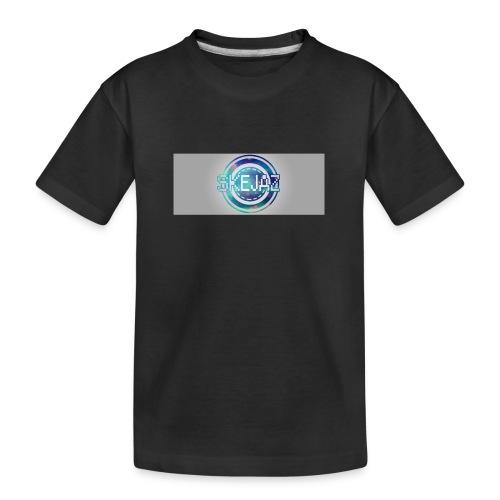 LOGO WITH BACKGROUND - Teenager Premium Organic T-Shirt