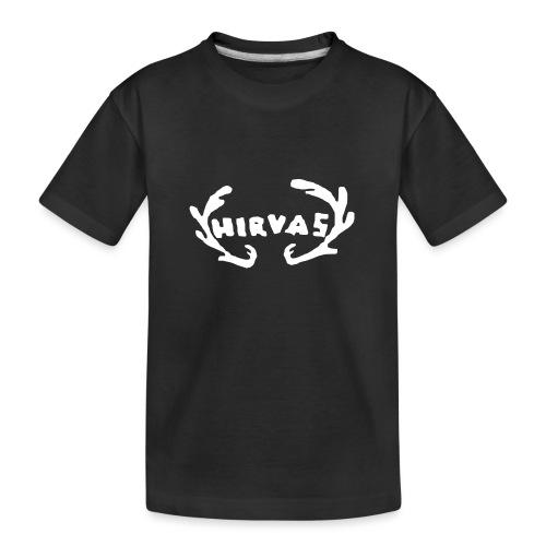 Hirvas vaalea - Teinien premium luomu-t-paita