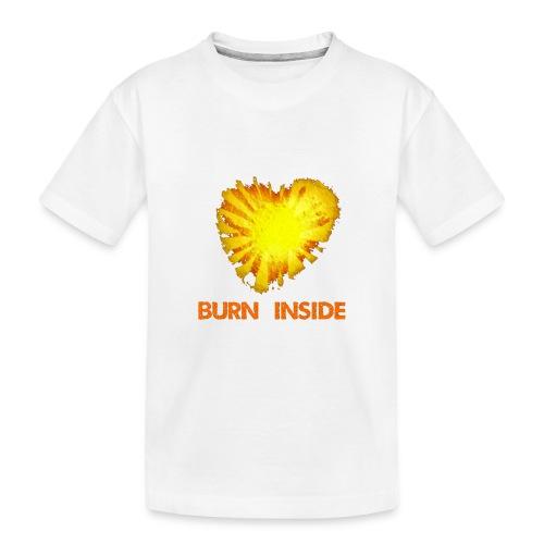 Burn inside - Maglietta ecologica premium per ragazzi