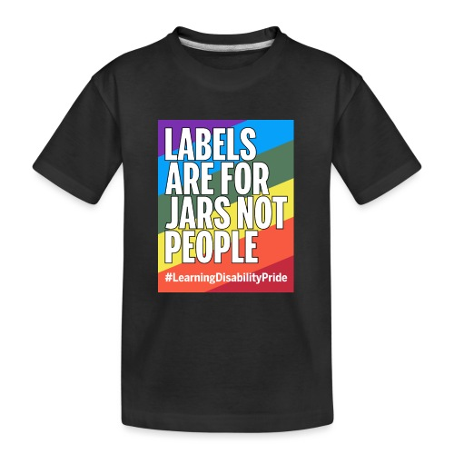 Labels are for Jars, Not People - Teenager Premium Organic T-Shirt