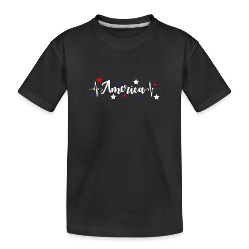 América 4th de Julio día de la Independencia E. U. - Camiseta orgánica premium adolescente