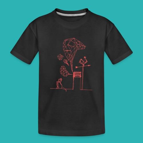 Carta_gatta_pink-png - Maglietta ecologica premium per ragazzi
