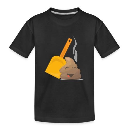 Funny Poop Emoji - Teenager Premium Organic T-Shirt