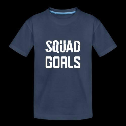 squad goals - Teenager premium biologisch T-shirt