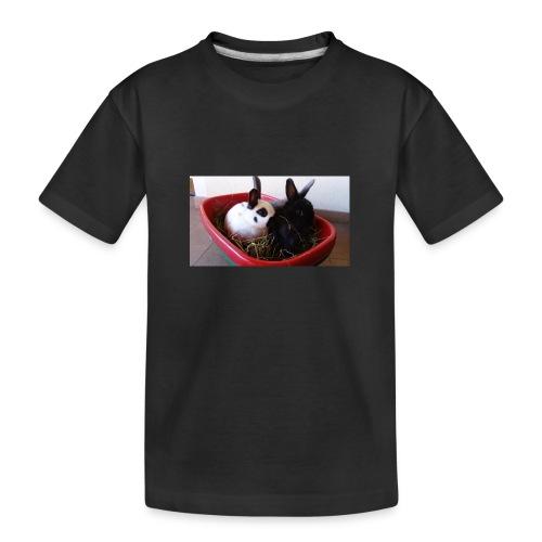Warme Sachen mit dem Hasenlogo - Teenager Premium Bio T-Shirt