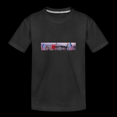 eXtreme fli99ers tryck på en tröja. - Ekologisk premium-T-shirt tonåring
