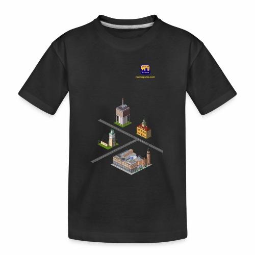 Raumagame mix - Teinien premium luomu-t-paita