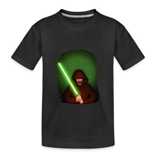 Jedi warrior with green lightsaber - Maglietta ecologica premium per ragazzi