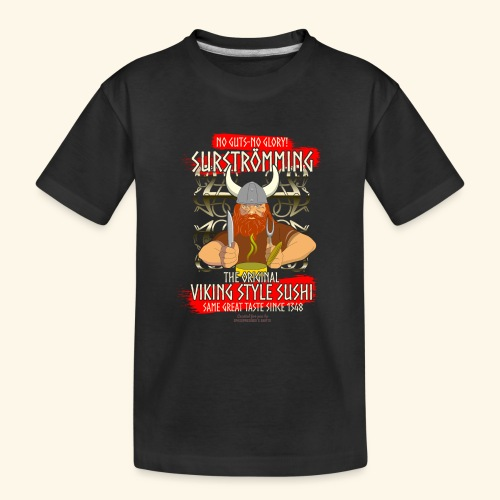 Surströmming Challenge Viking Sushi T-Shirt - Teenager Premium Bio T-Shirt