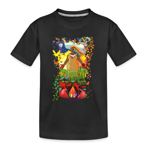 Mother Earth Creating - Teenager premium biologisch T-shirt
