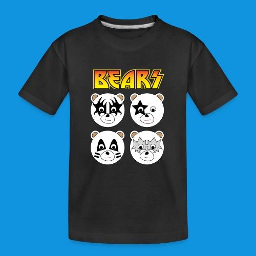 Kiss Bears square.png - Teenager Premium Organic T-Shirt