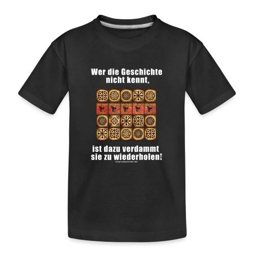 71_Geschichte_Lernen - Teenager Premium Bio T-Shirt