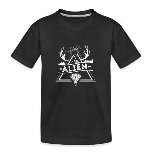 Alien - Hipster Logo Design - Premium økologisk T-skjorte for tenåringer