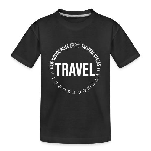 Reisen Weltreise Travelshirt Sprachen - Teenager Premium Bio T-Shirt
