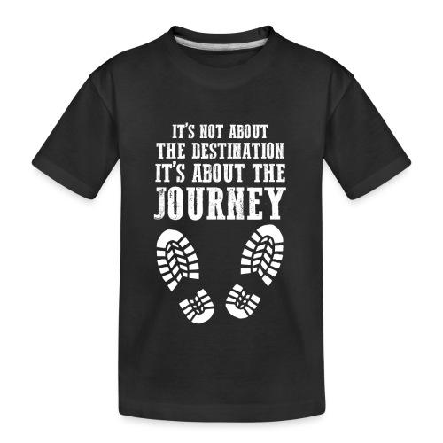 Reisen Weltreise Travelshirt Der weg ist das Ziel - Teenager Premium Bio T-Shirt