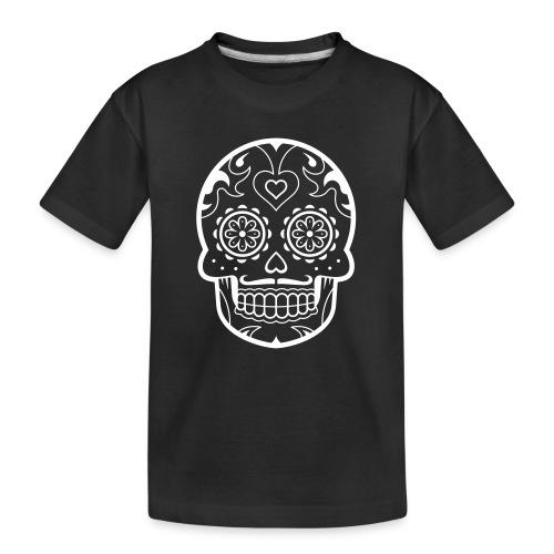 Schädel - Teenager Premium Bio T-Shirt
