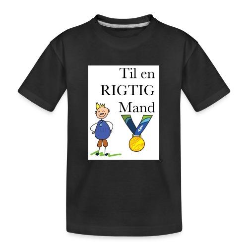 En rigtig mand - Teenager premium T-shirt økologisk