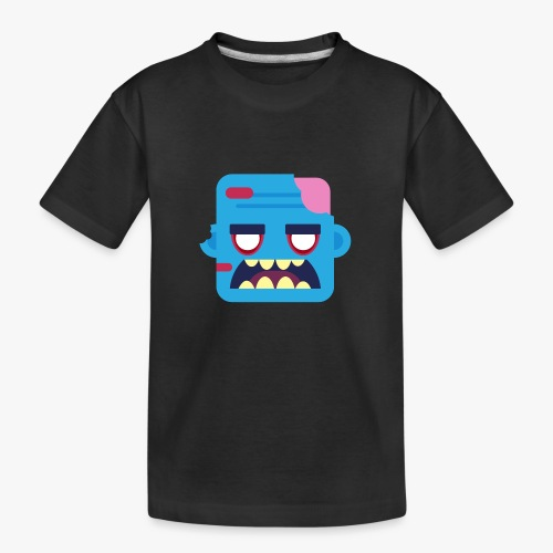 Mini Monsters - Zombob - Teenager premium T-shirt økologisk