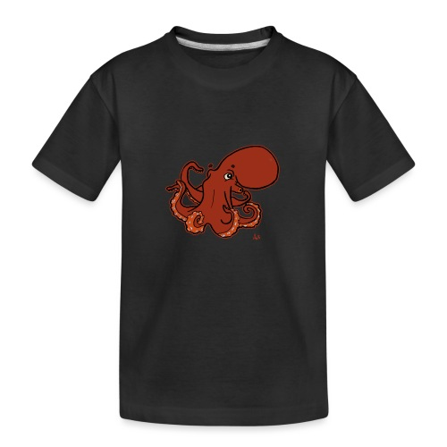 Giant Pacific Octopus (black edition) - Teenager Premium Bio T-Shirt