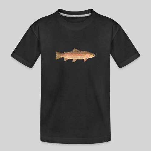 low-polygon-trout art.png - Teinien premium luomu-t-paita