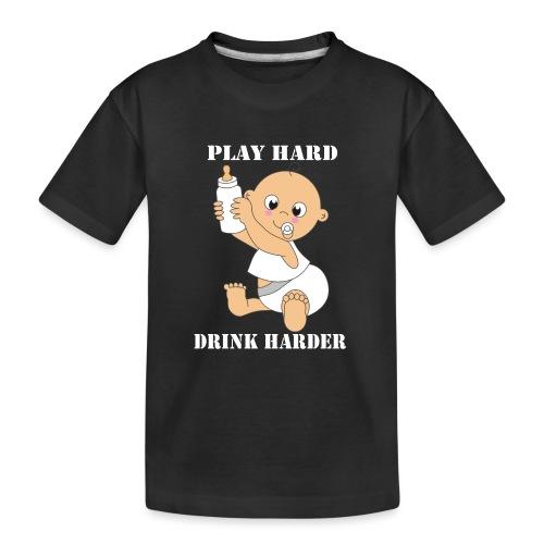 Play hard... Drink harder - Teenager Premium Bio T-Shirt