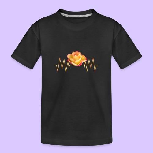 Rose, Herzschlag, Rosen, Blume, Herz, Frequenz - Teenager Premium Bio T-Shirt