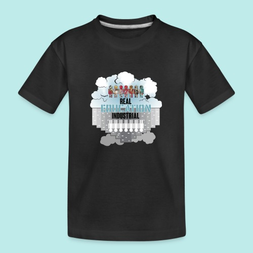 Real Education vs. Industrial Education - Camiseta orgánica premium adolescente