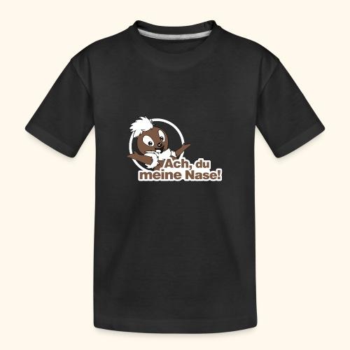 Pittiplatsch Ach, du meine Nase 2D - Teenager Premium Bio T-Shirt