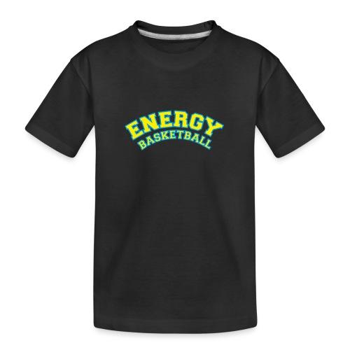 eco logo energy basketball giallo - Maglietta ecologica premium per ragazzi