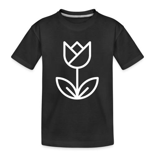 Tulip white png - Teenager Premium Organic T-Shirt