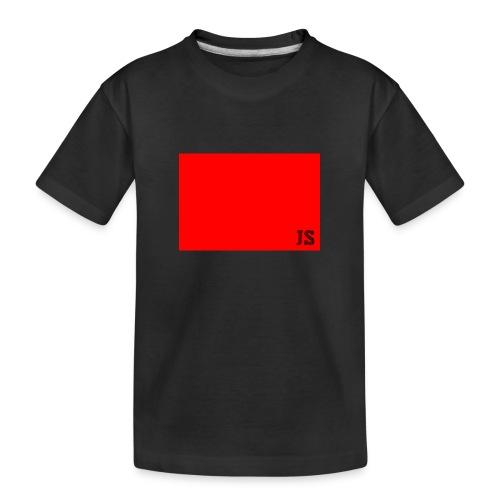 JustSquares Rood - Teenager premium biologisch T-shirt