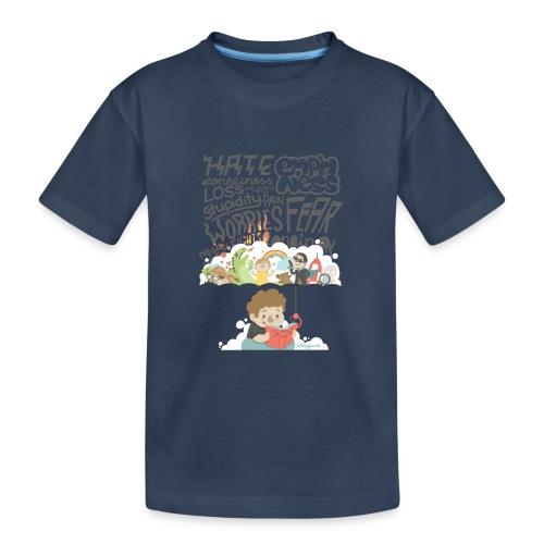 Bücher sind Freunde - Teenager Premium Bio T-Shirt