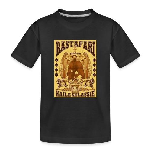 Rastafari Haile Selassie Reggae Roots JahBless - Teenager Premium Bio T-Shirt