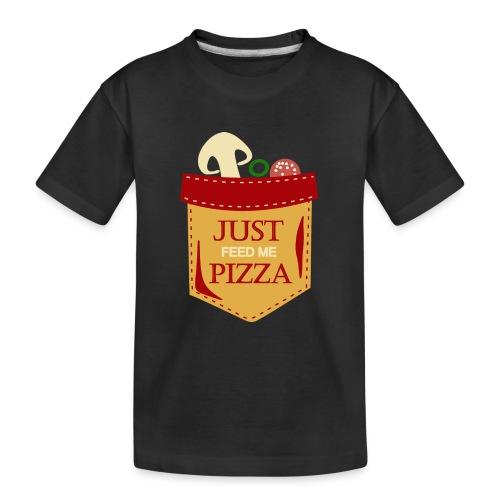 Bare mat meg pizza - Premium økologisk T-skjorte for tenåringer