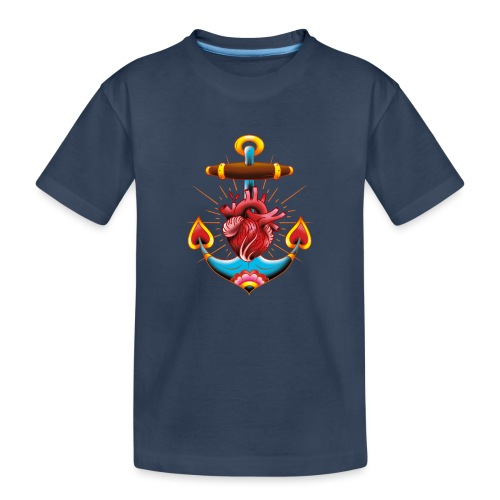 Sailor's Heart - Tattoo design - T-shirt bio Premium Ado