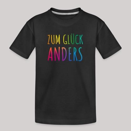 Zum Glück anders - Teenager Premium Bio T-Shirt