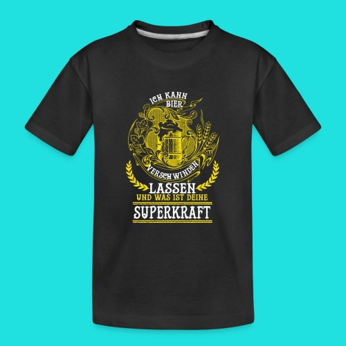 Bier Superkraft - Teenager Premium Bio T-Shirt