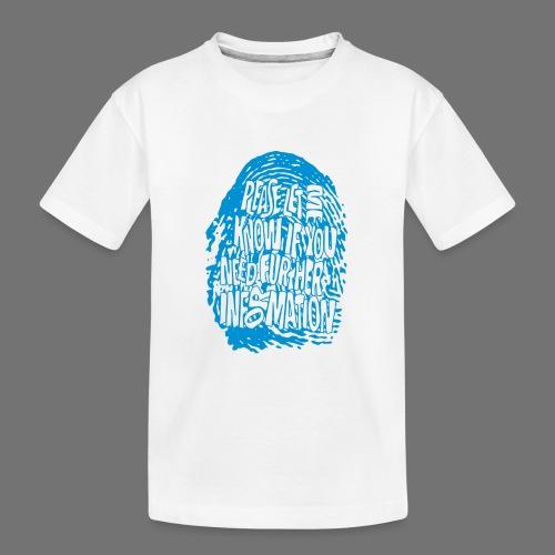 Fingerprint DNA (blue) - Teenager Premium Organic T-Shirt