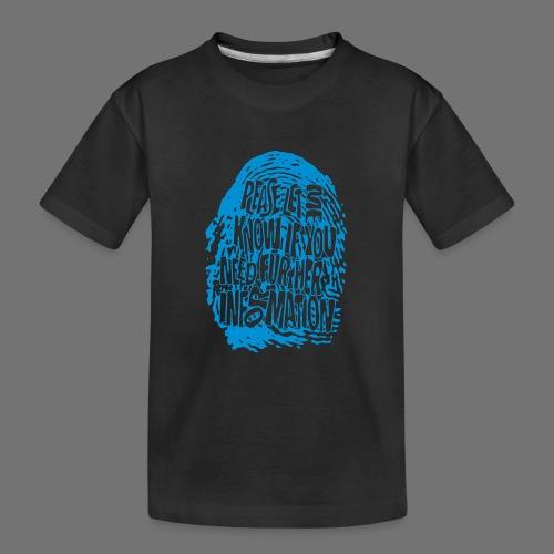 Fingerprint DNA (blue) - Teenager Premium Bio T-Shirt