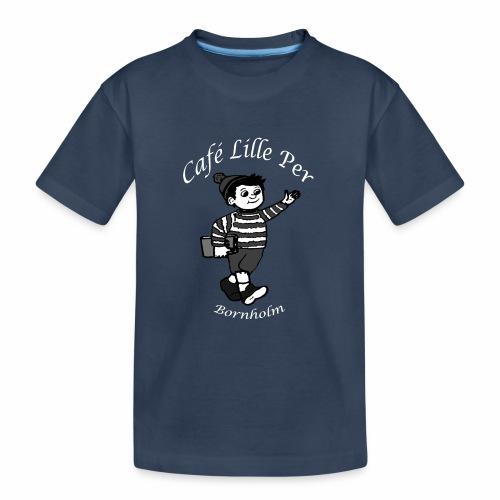 Cafe LillePer Logo BW - Teenager premium T-shirt økologisk
