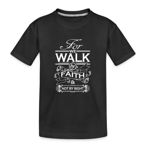 walk white - Teenager Premium Organic T-Shirt
