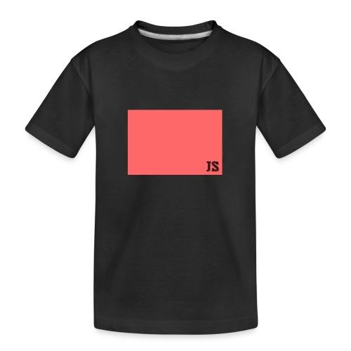 JustSquares Roze - Teenager premium biologisch T-shirt