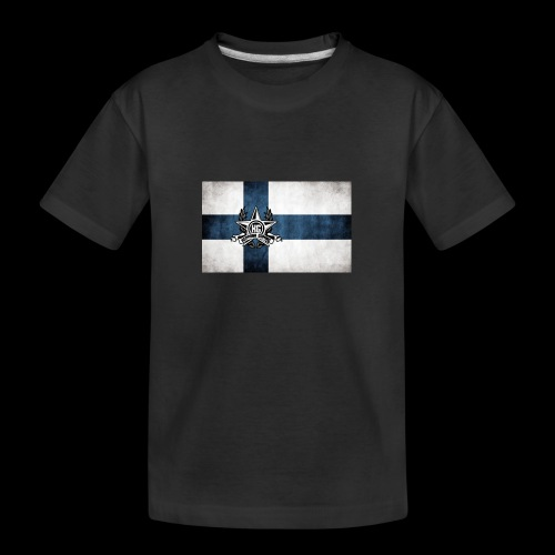 Suomen lippu - Teinien premium luomu-t-paita