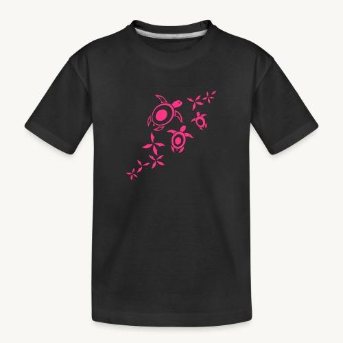 blumige Wasserschildis - Teenager Premium Bio T-Shirt