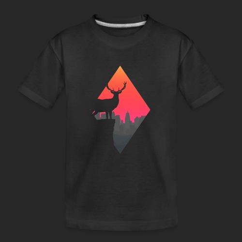 Sunset Deer - Teenager Premium Organic T-Shirt