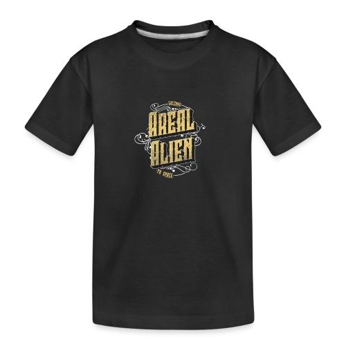 Areal Alien Vintage logo - Premium økologisk T-skjorte for tenåringer