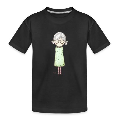 meisje met bril - Teenager premium biologisch T-shirt