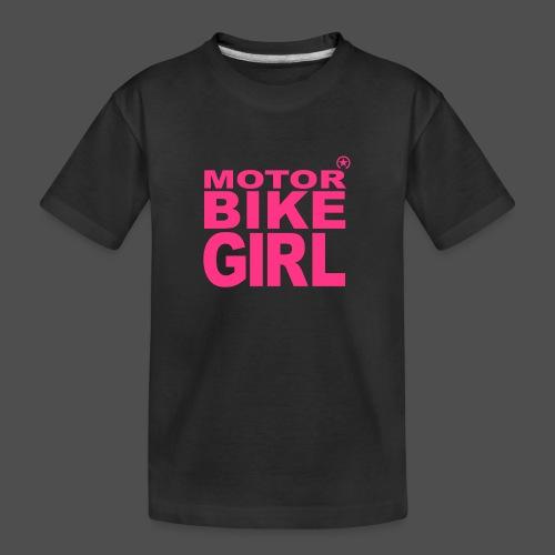 Motorbike Girl - Teenager Premium Organic T-Shirt
