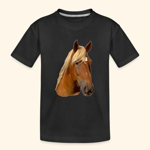 Horse Head - Teenager Premium Organic T-Shirt